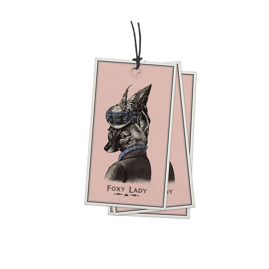 Pack of 10 Foxy Lady Gift Tags - Chase and Wonder - Proudly Made in Britain