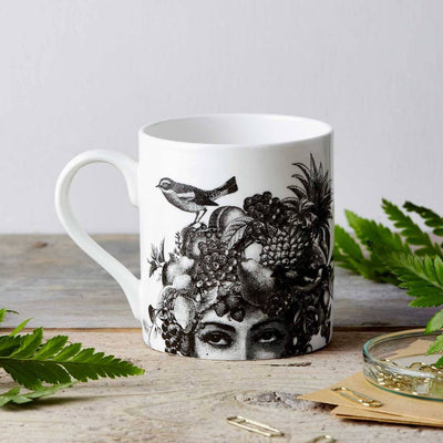 Fruit Lady Fine China Mug - Chase and Wonder - Proudly Made in Britain