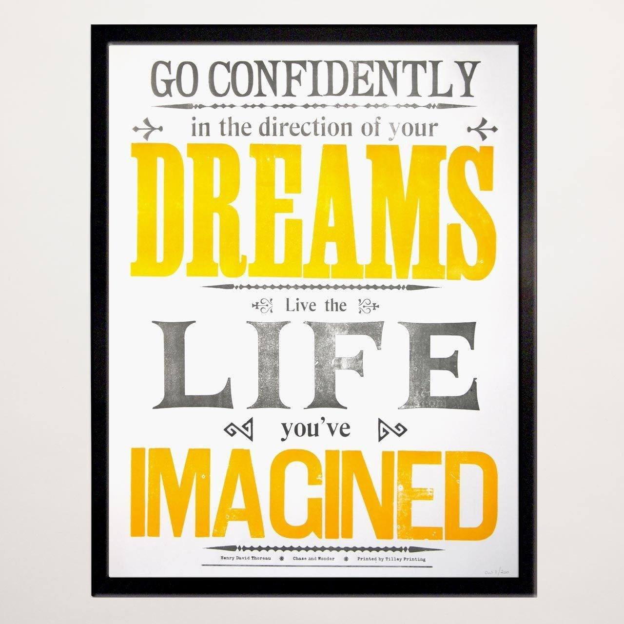 Go Confidently Letterpress Print - Chase and Wonder - Proudly Made in Britain