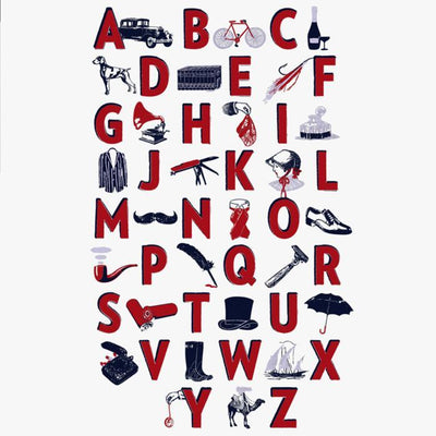 A Gentleman's A-Z Screen Print - Chase and Wonder - Proudly Made in Britain