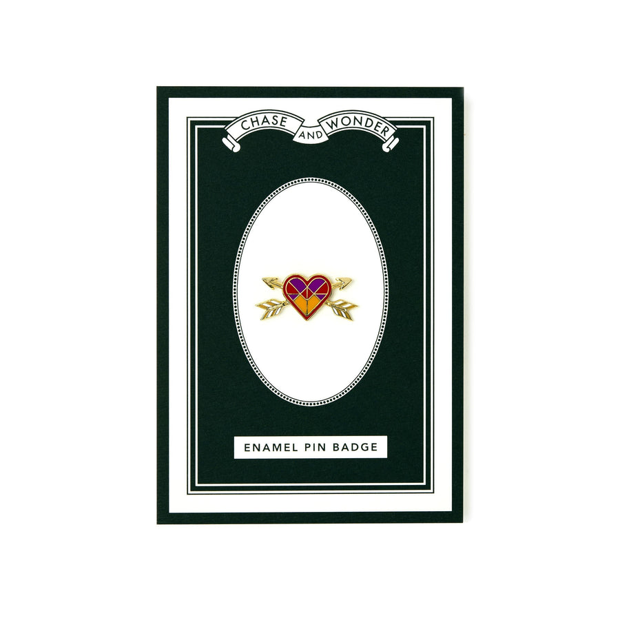 Love Heart Enameled Pin Badge - Chase and Wonder - Proudly Made in Britain