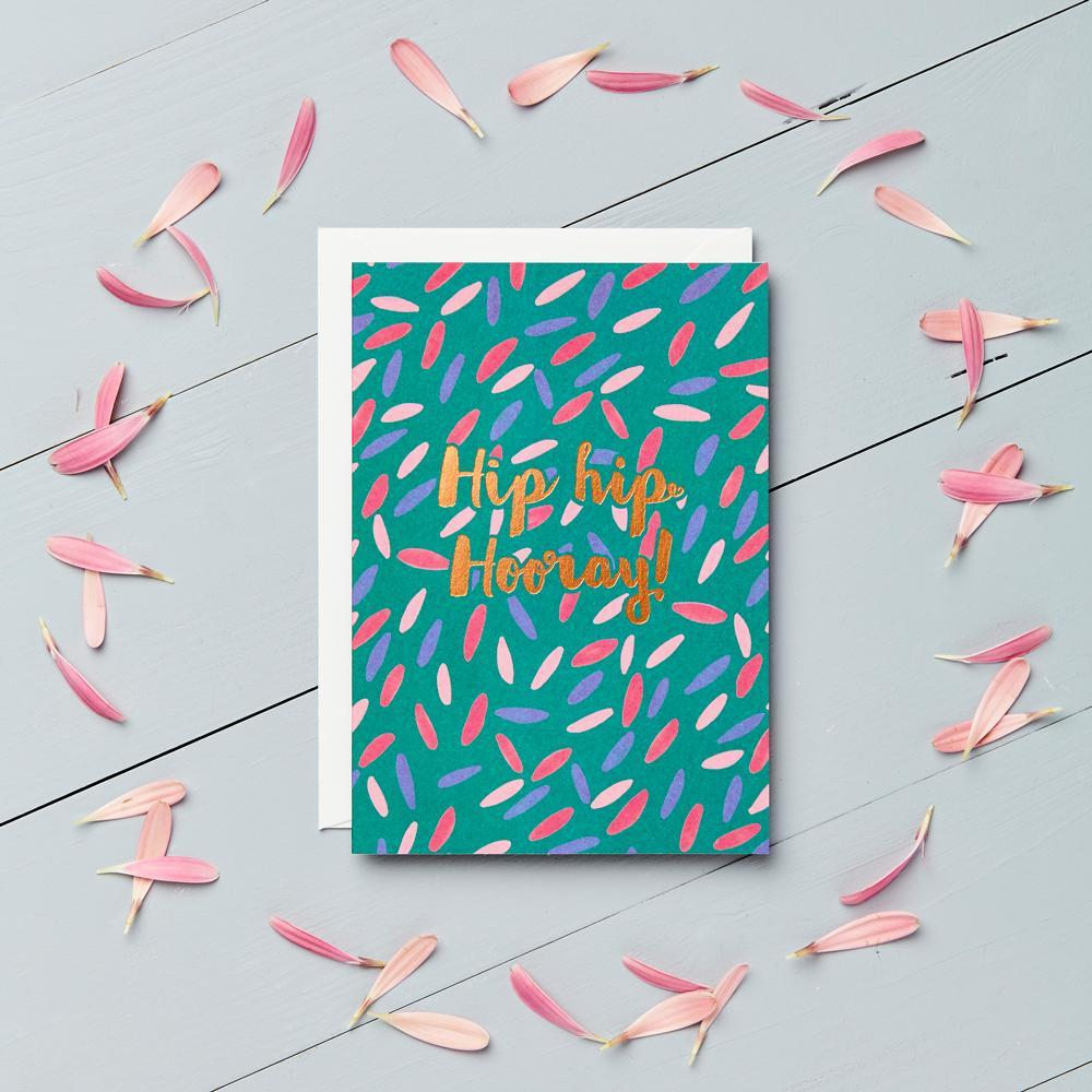 Hip Hip Hooray - Copper Foil Greeting Card - Chase and Wonder - Proudly Made in Britain