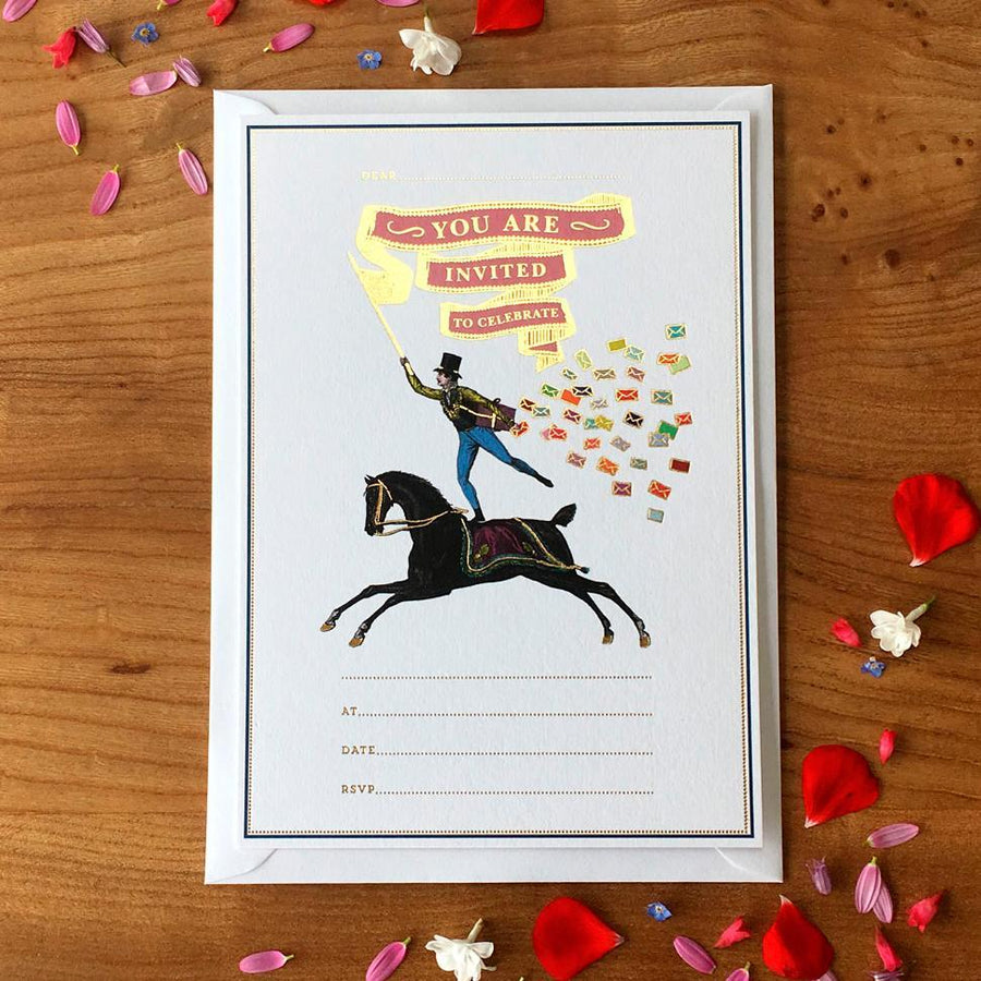 Horse Rider Invitation (Pack of 10) - Chase and Wonder - Proudly Made in Britain
