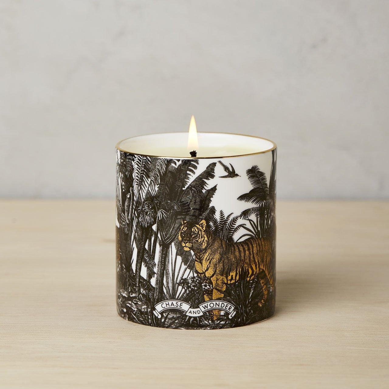 The Jungle Luxury Scented Ceramic Candle - Chase and Wonder - Proudly Made in Britain
