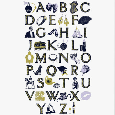 A Lady's A-Z Screen Print - Chase and Wonder - Proudly Made in Britain