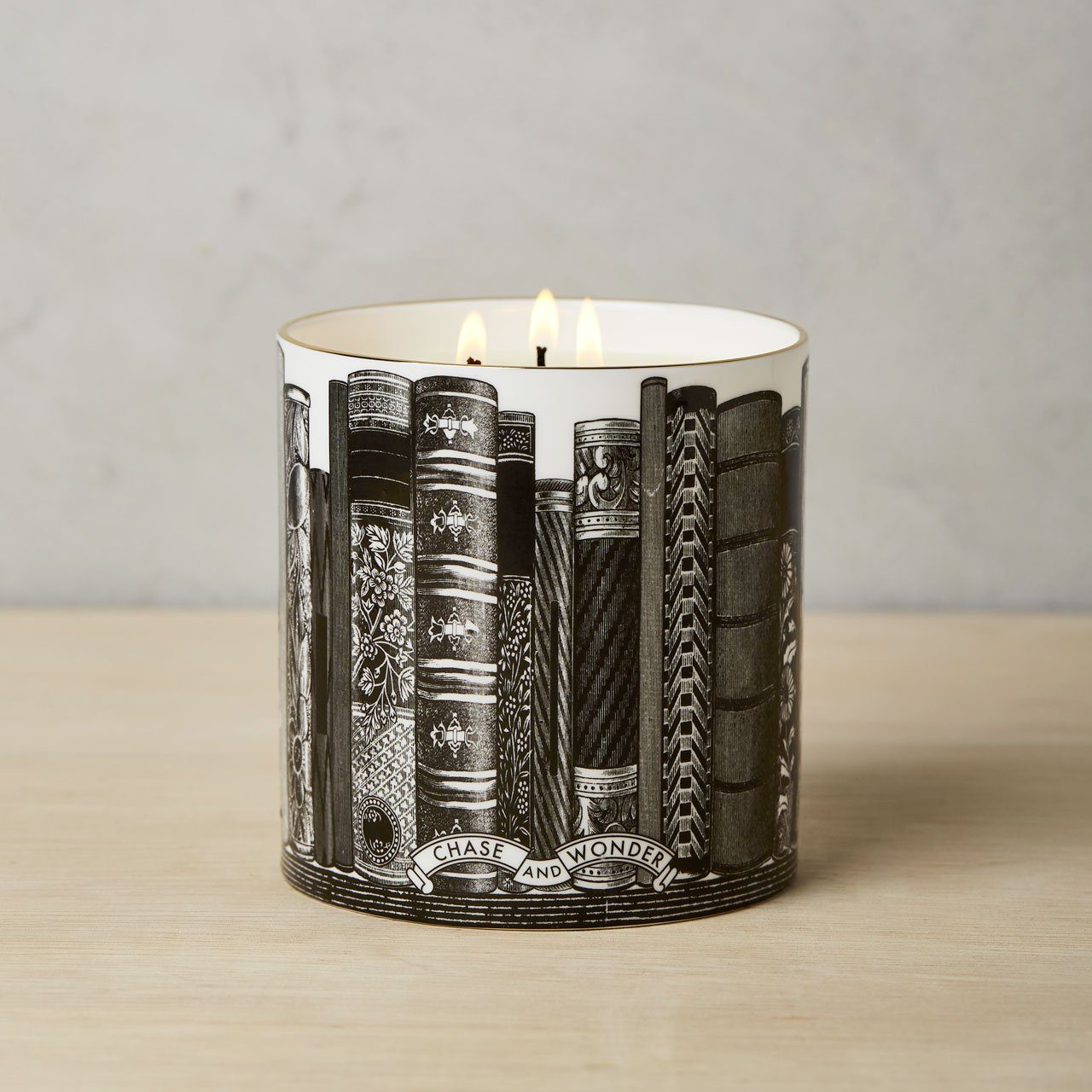 The Library 3 Wick Scented Ceramic Candle - Chase and Wonder - Proudly Made in Britain