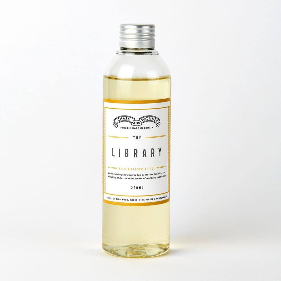 The Library Reed Diffuser Refill - Chase and Wonder - Proudly Made in Britain