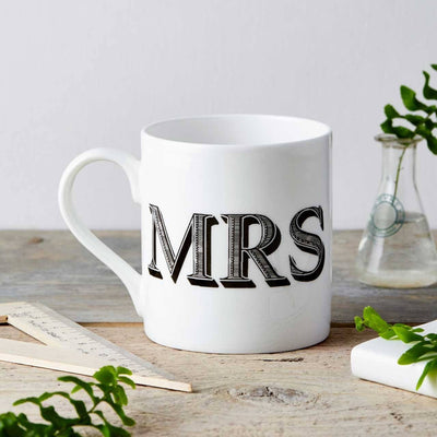 Mrs Type Fine China Mug - Chase and Wonder - Proudly Made in Britain