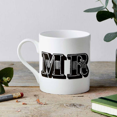 Mr Type Fine China Mug - Chase and Wonder - Proudly Made in Britain