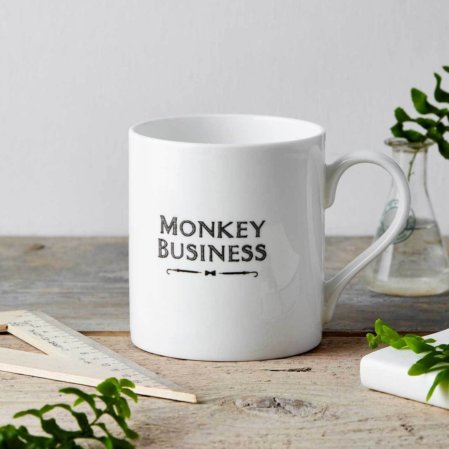 Monkey Business Fine China Mug - Chase and Wonder - Proudly Made in Britain