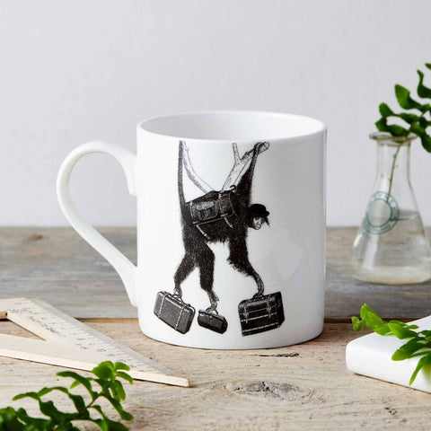 Monkey Business Fine China Mug