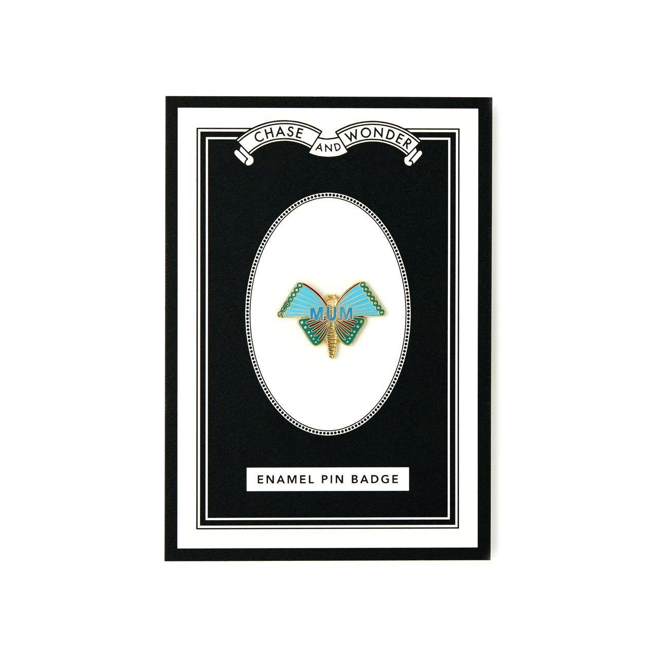 Butterfly Mum Enameled Pin Badge - Chase and Wonder - Proudly Made in Britain