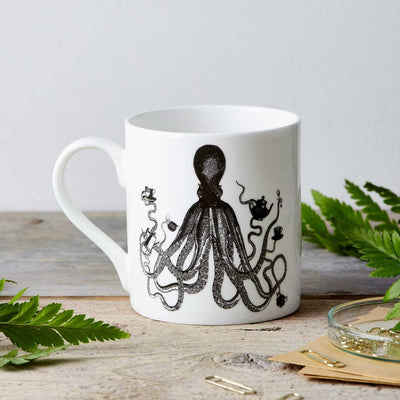 Octopus Fine China Mug - Chase and Wonder - Proudly Made in Britain