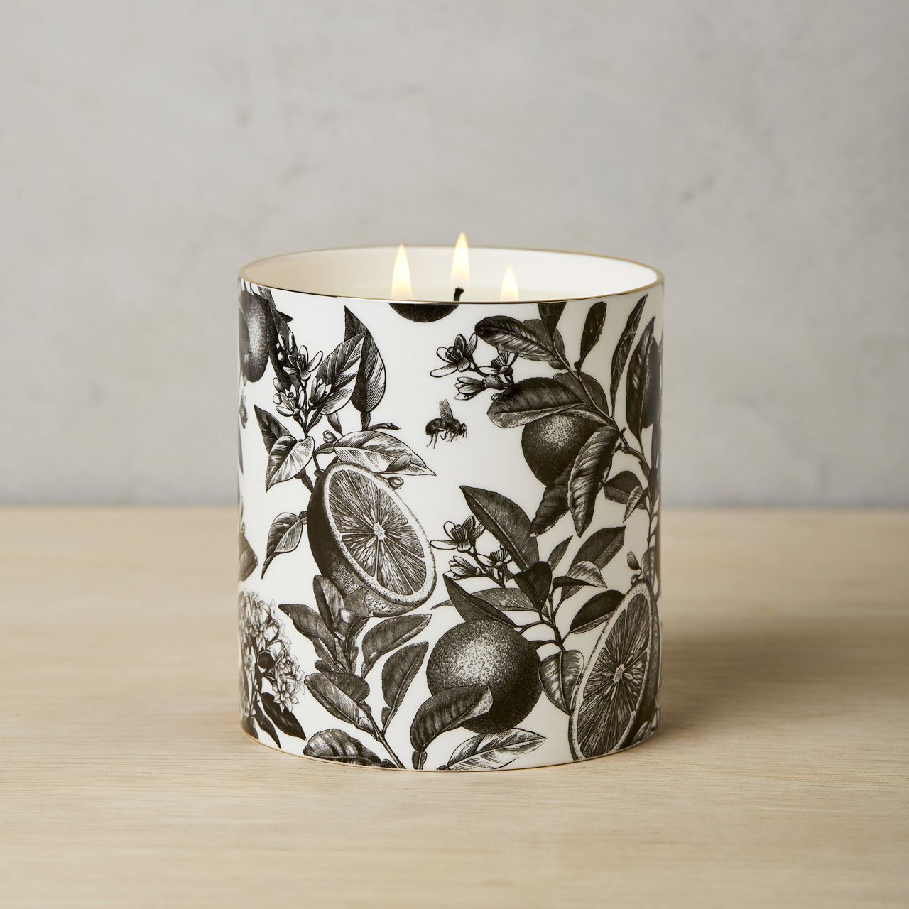 The Orangery 3 Wick Scented Ceramic Candle - Chase and Wonder - Proudly Made in Britain
