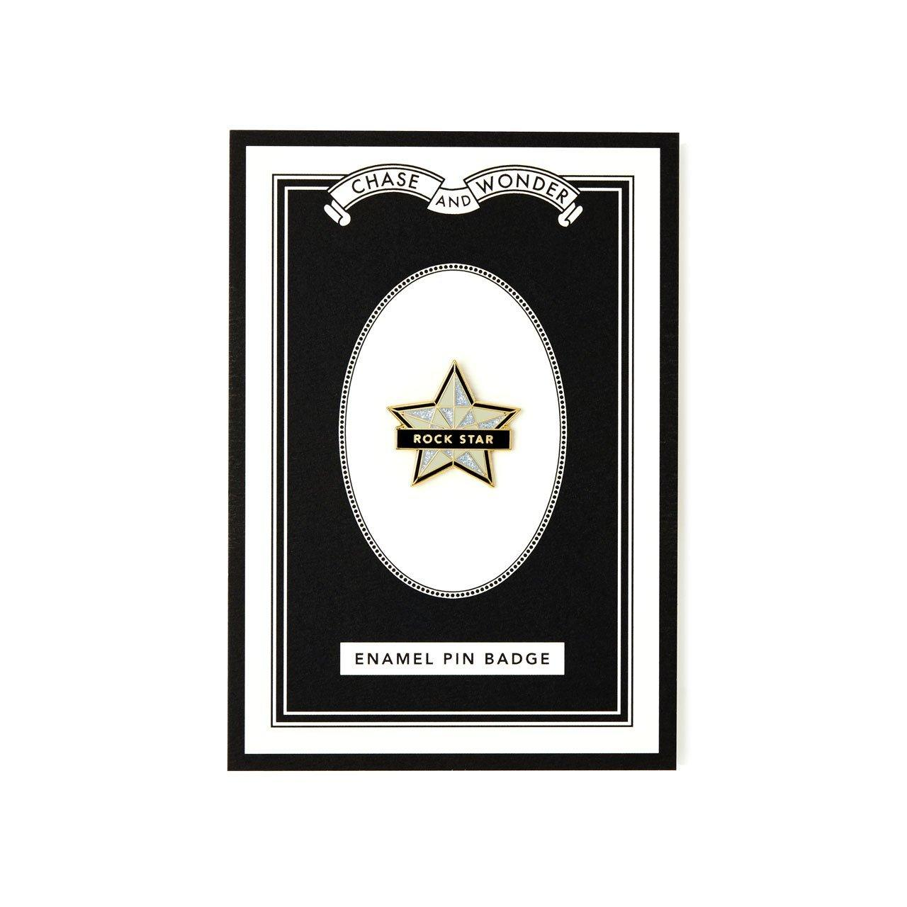 Rock Star Enameled Pin Badge - Chase and Wonder - Proudly Made in Britain