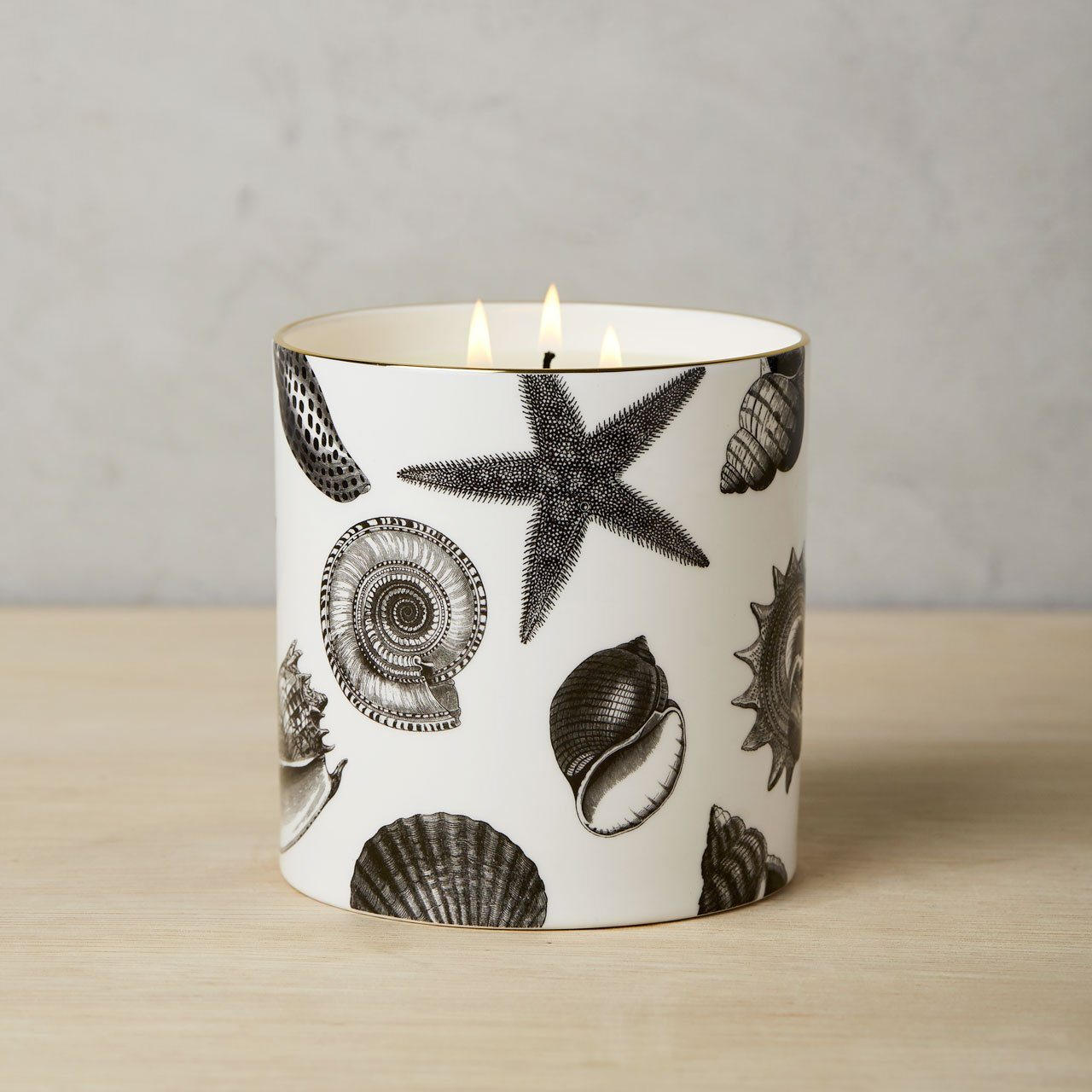 The Seashore 3 Wick Scented Ceramic Candle - Chase and Wonder - Proudly Made in Britain