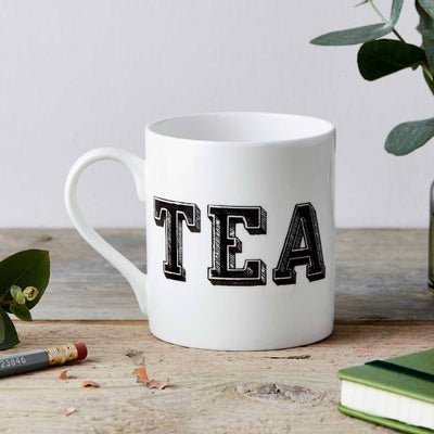 Tea Type Fine China Mug - Chase and Wonder - Proudly Made in Britain