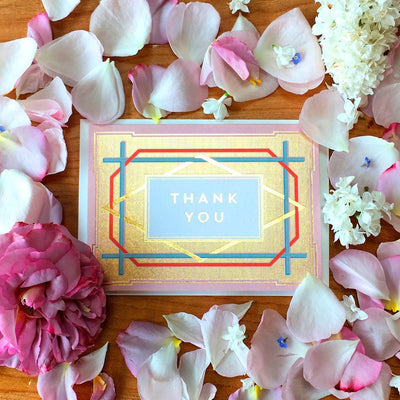 Art Deco Thank You Card Set - Chase and Wonder - Proudly Made in Britain