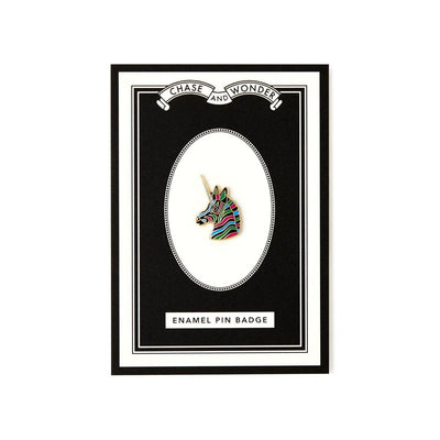 Magical Unicorn Enameled Pin Badge - Chase and Wonder - Proudly Made in Britain