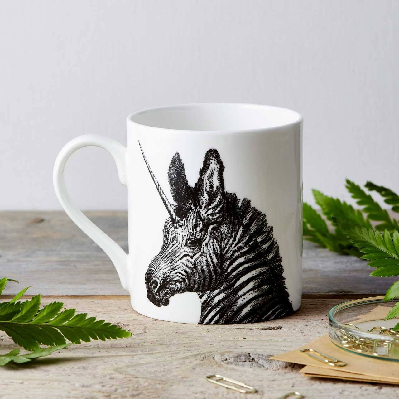 Unicorn/Zebra Fine China Mug
