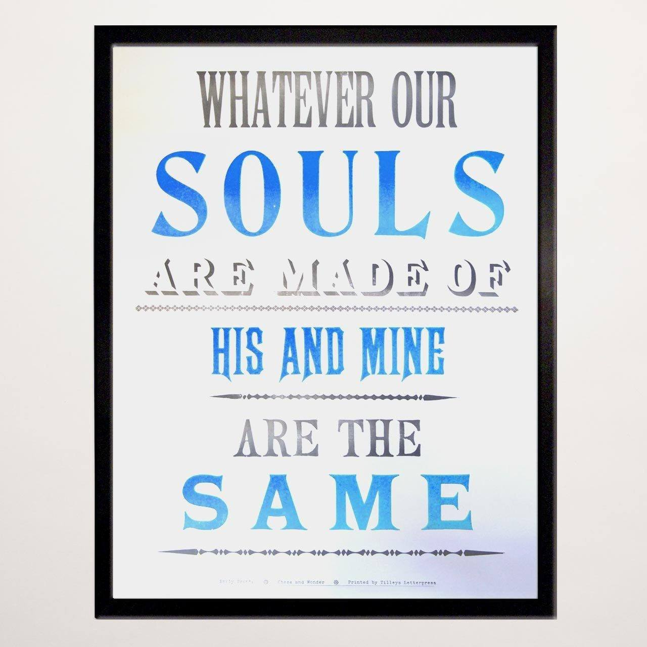 His and Mine Letterpress Print - Chase and Wonder - Proudly Made in Britain
