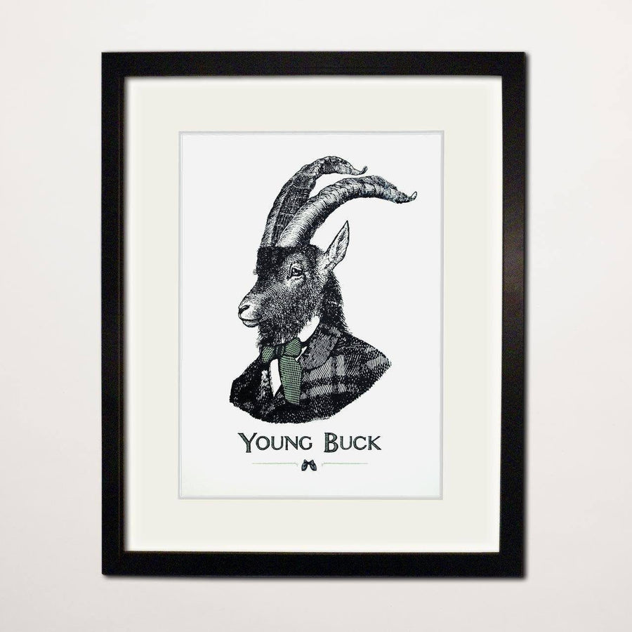 Young Buck Screen Print - Chase and Wonder - Proudly Made in Britain