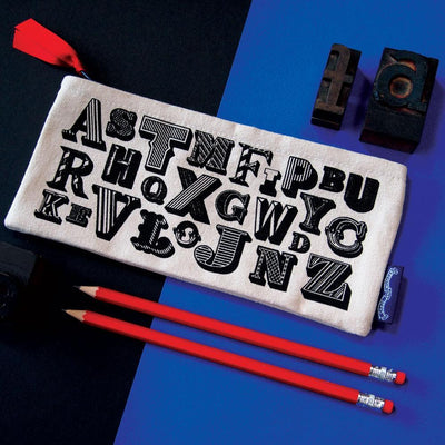 Alphabet Pencil case - Chase and Wonder - Proudly Made in Britain
