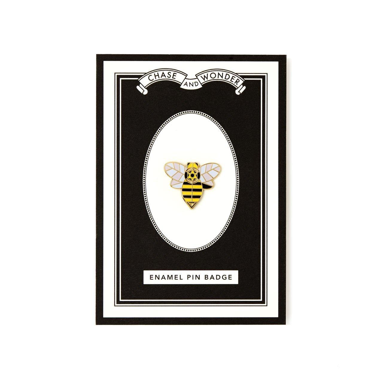 Bee Enameled Pin Badge - Chase and Wonder - Proudly Made in Britain
