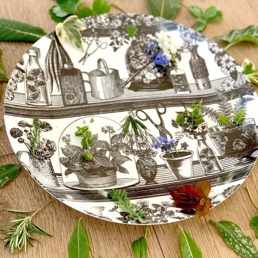 "Botanist Fine China 8"" Plate - Chase and Wonder - Proudly Made in Britain"