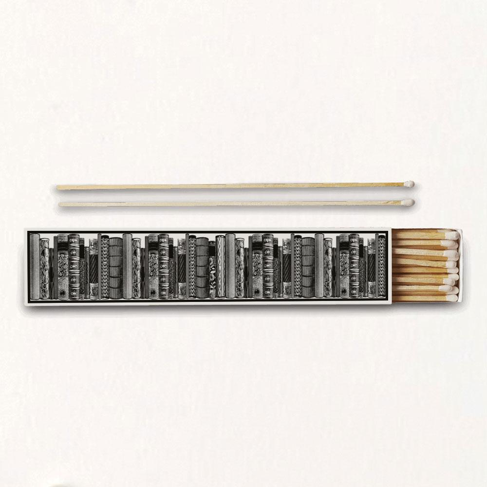 The Library Luxury Long Matches - Chase and Wonder - Proudly Made in Britain