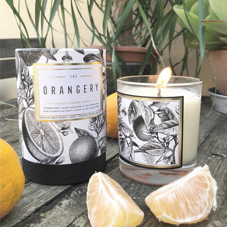 The Orangery Scented Candle - Chase and Wonder - Proudly Made in Britain