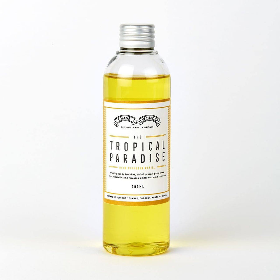 The Tropical Paradise Reed Diffuser Refill - Chase and Wonder - Proudly Made in Britain