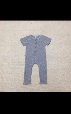 Grey Birthday Romper - Short and Long Sleeved