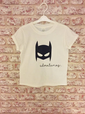 Short Rolled Sleeved Bat-Mask T-Shirt