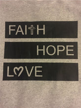 Adult Grey Faith Hope Love Jumper