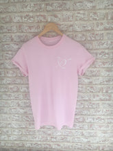Mum Of... Baby Pink T-Shirt with Small White Print