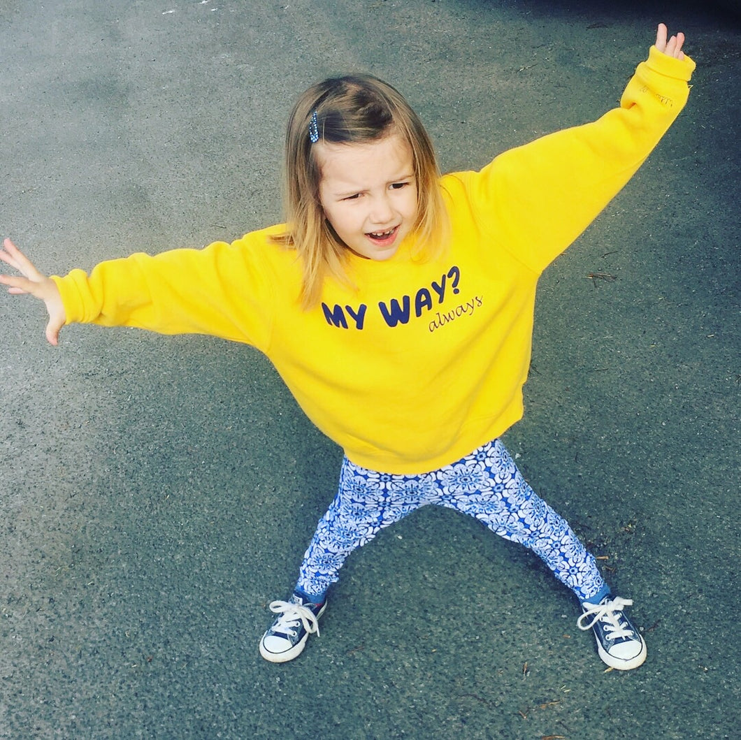 My Way - always... Personalised Yellow Sweater