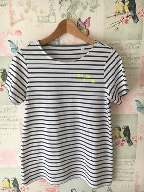 Adult Lucky To Be Me Striped T-Shirt
