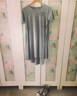 XS and S Grey Swing Dress - I am enough
