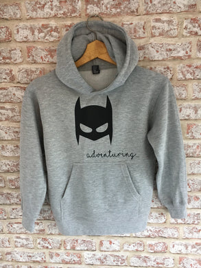 Adult Bat-Mask Hoody