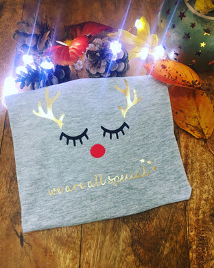 Eyelash Rudolph T-Shirt - We are all Special - Child and Adult