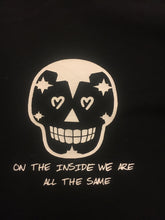 Skull T-Shirt ON THE INSIDE WE ARE ALL THE SAME