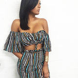 Kylie off shoulder two piece set-Urbanized Apparel Store