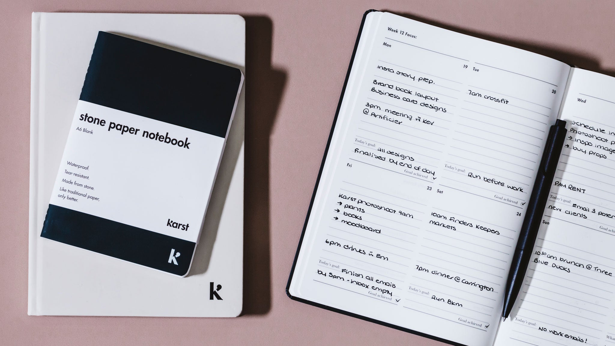 How to Use the Karst 2018 Weekly Planner