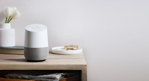 Google Home on the table