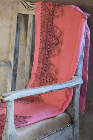 Indian Paisley Scarf - Pink