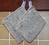 Potholder - Grey knitted