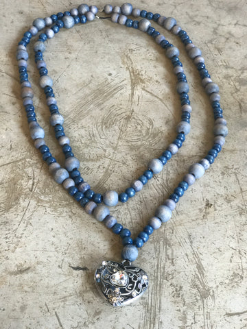 Necklace Blue Heart