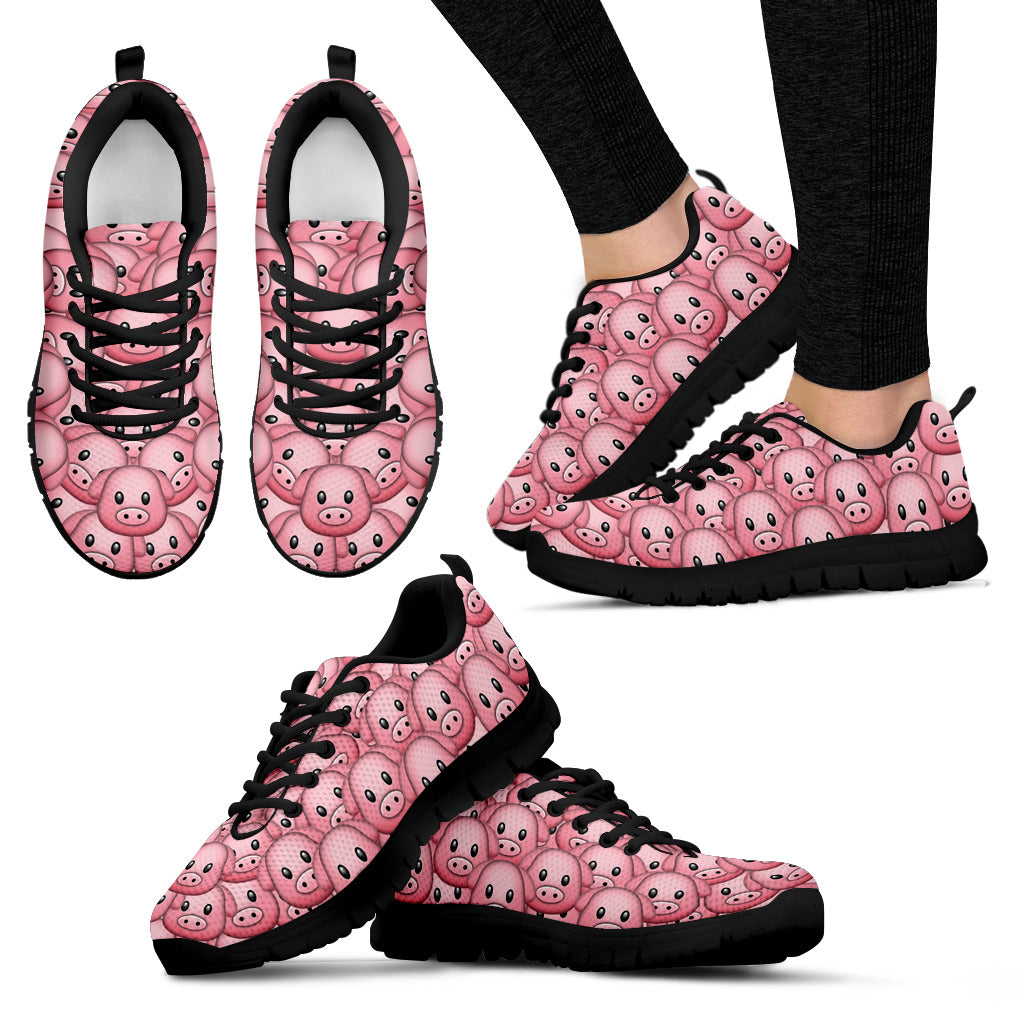 Piggy Sneakers (Black)
