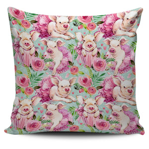 Beautiful Piggies Pillow Cover